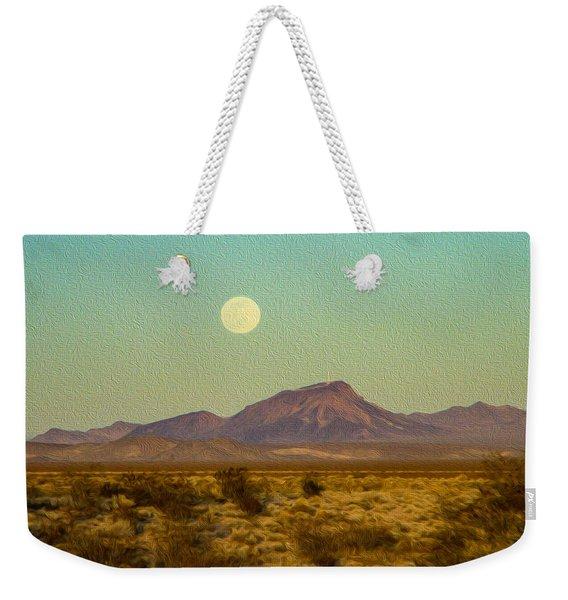 Mohave Desert Moon Weekender Tote Bag