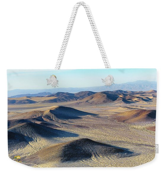 Weekender Tote Bag featuring the photograph Mojave Desert by Jim Thompson