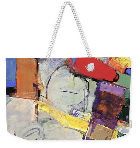 Weekender Tote Bag featuring the painting Mojo Rizen Via La Woman by Cliff Spohn
