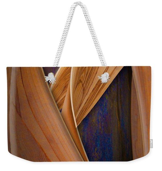 Molten Wood Weekender Tote Bag