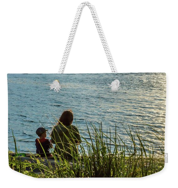Mother And Son Weekender Tote Bag