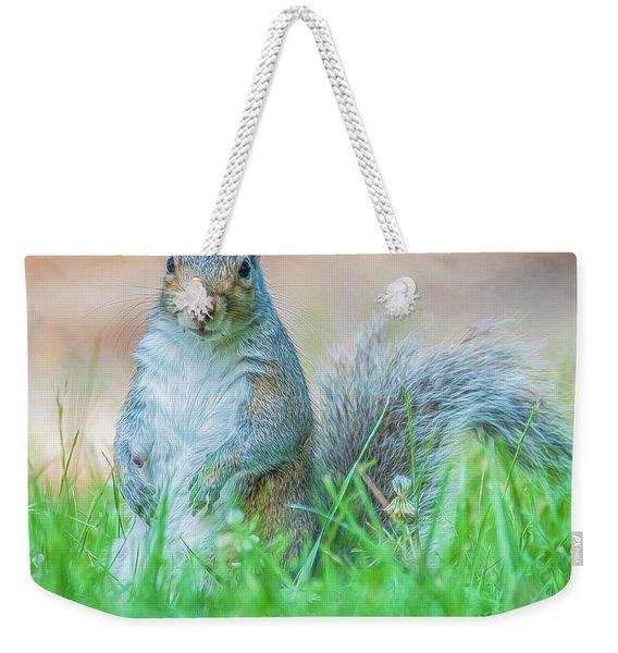 Momma Squirrel Weekender Tote Bag