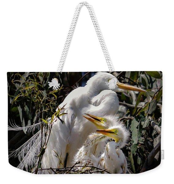 Mom's Watchful Eye Weekender Tote Bag