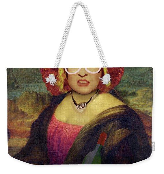 Mona Linda - Aka The Auburn Jerry Hall - Gawjuss And Vile Weekender Tote Bag