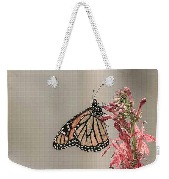 Monarch And Cardinal Flower 2016-2 Weekender Tote Bag