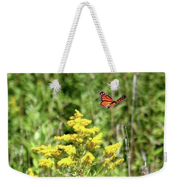 Monarch And Goldenrod Weekender Tote Bag