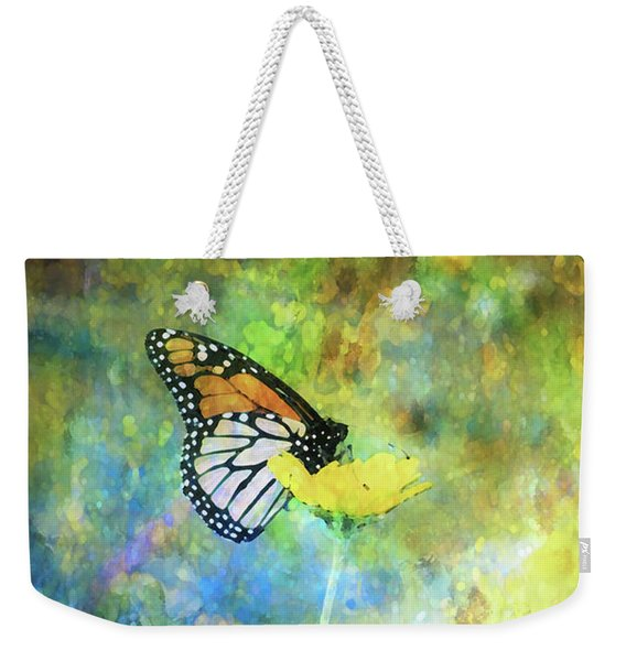 Monarch In Azure And Gold 5647 Idp_2 Weekender Tote Bag