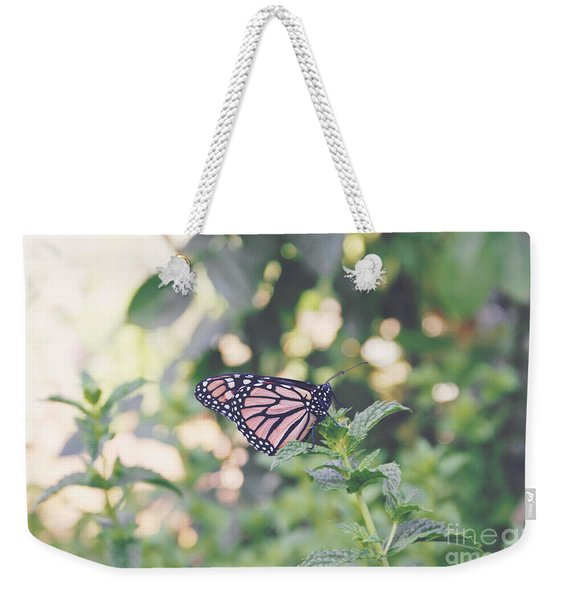 Monarch On Mint Weekender Tote Bag