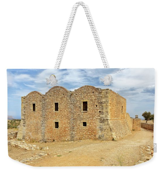 Monastery At Aptera In Crete Weekender Tote Bag