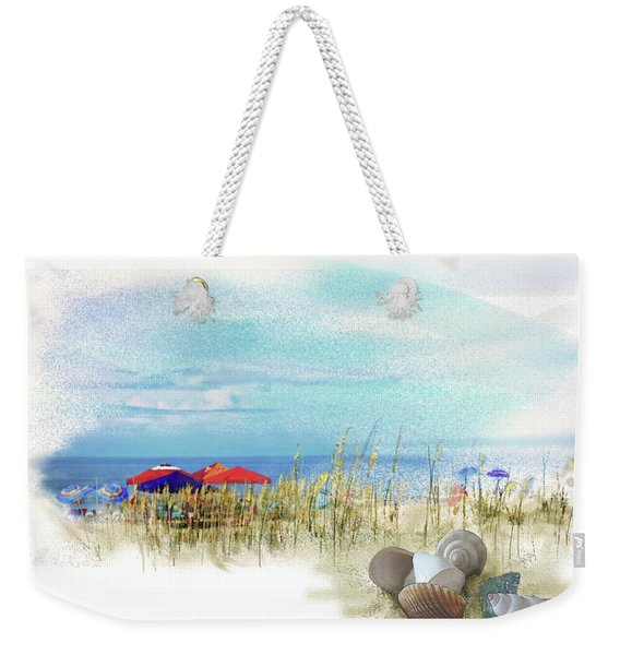 Weekender Tote Bag featuring the digital art Monday Afternoon by Gina Harrison