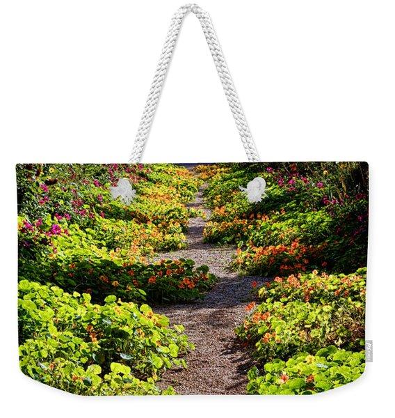 Monet Garden Path  Weekender Tote Bag