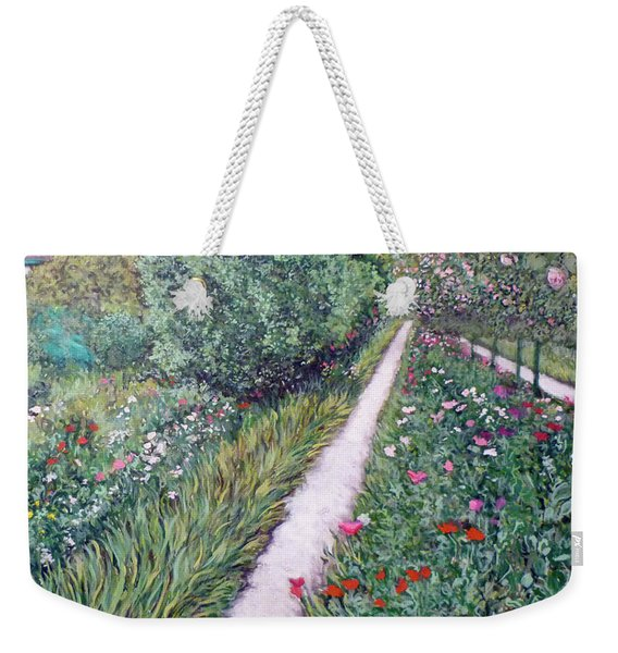 Monet's Garden Path Weekender Tote Bag