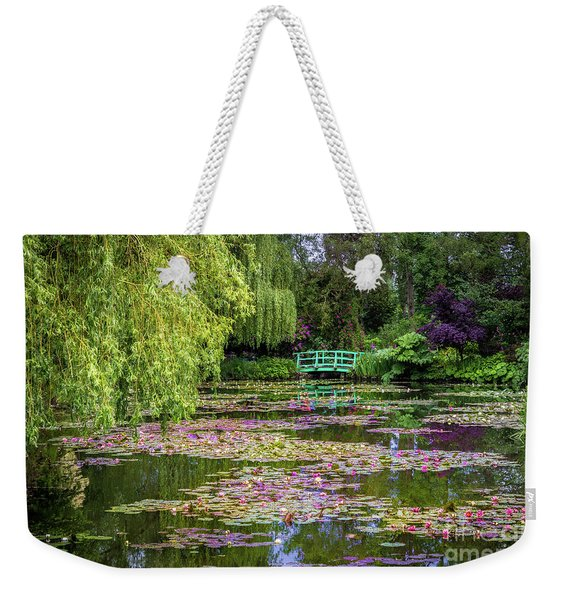 Monet's Waterlily Pond, Giverny, France Weekender Tote Bag