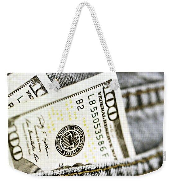 Money Jeans Weekender Tote Bag