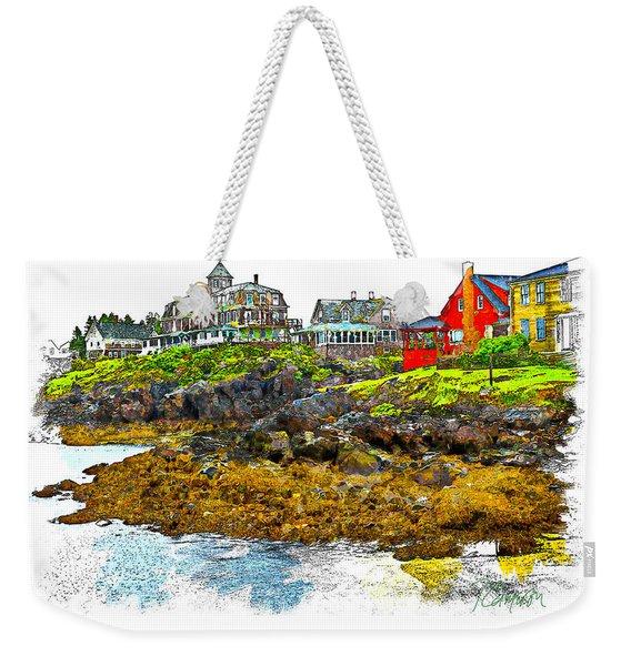 Monhegan West Shore Weekender Tote Bag