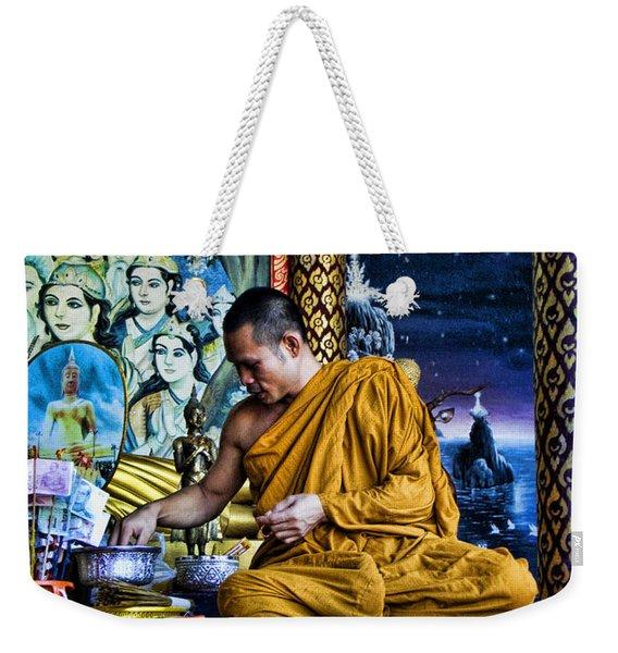 Monk At Big Buddha  Weekender Tote Bag