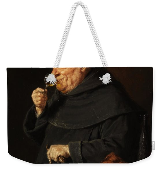 Monk With A Wine Weekender Tote Bag