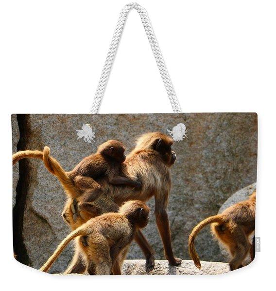 Monkey Family Weekender Tote Bag