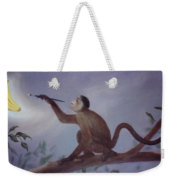 Monkey In The Moonlight Weekender Tote Bag