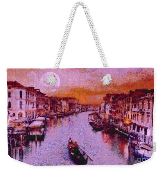 Monkey Painted Italy Again Weekender Tote Bag