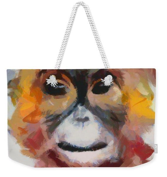 Monkey Splat Weekender Tote Bag