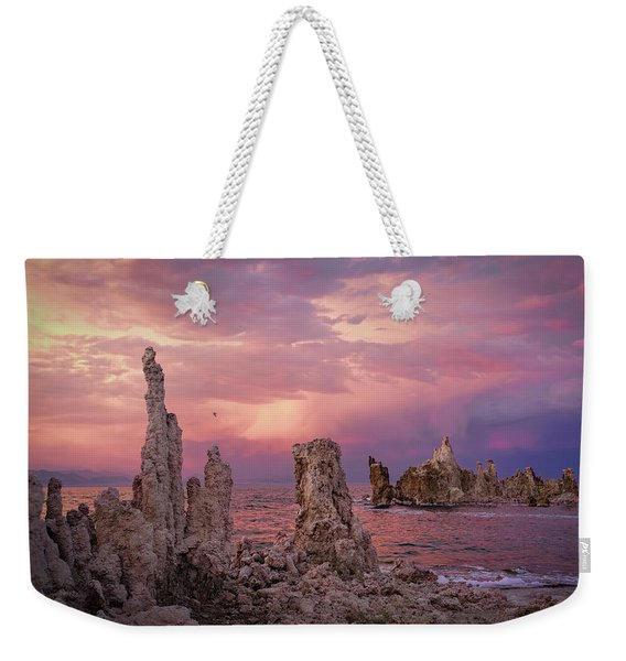 Mono Lake Sunset Weekender Tote Bag