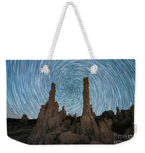 Mono Lake Tufa Vortex Star Trails Weekender Tote Bag