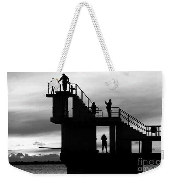 Mono Sunset Blackrock  Weekender Tote Bag