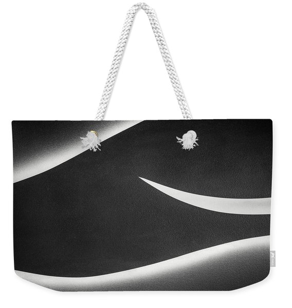 Monochrome Abstract Weekender Tote Bag