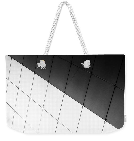 Monochrome Building Abstract 3 Weekender Tote Bag