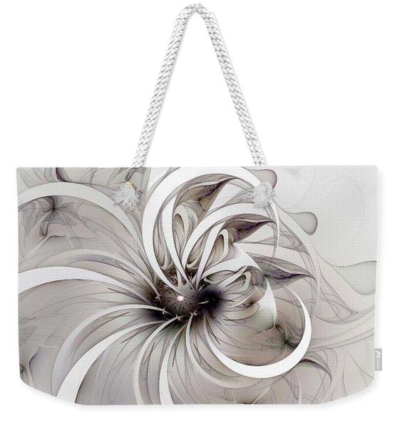 Monochrome Flower Weekender Tote Bag