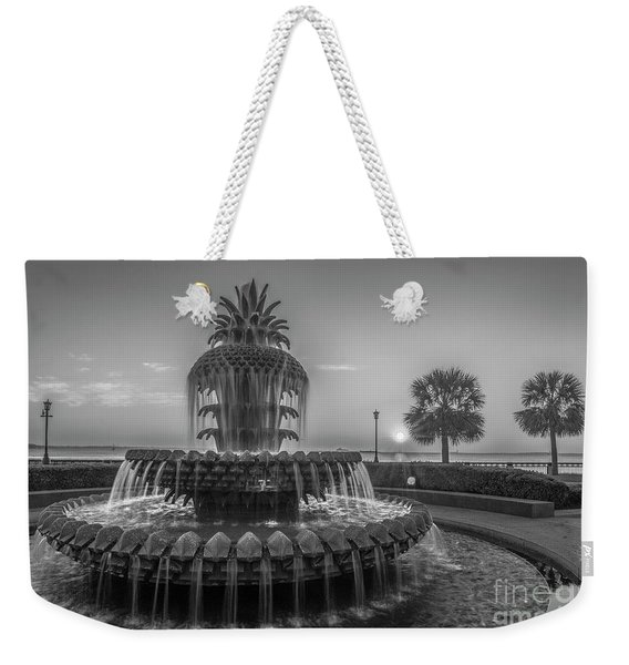 Monochrome Pineapple Weekender Tote Bag