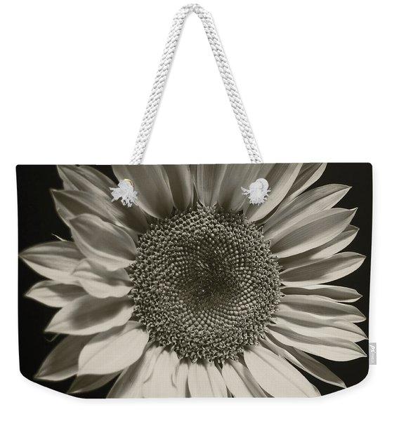 Monochrome Sunflower Weekender Tote Bag