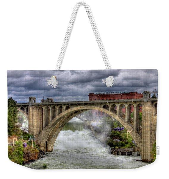Monroe Street Bridge Spokane Weekender Tote Bag