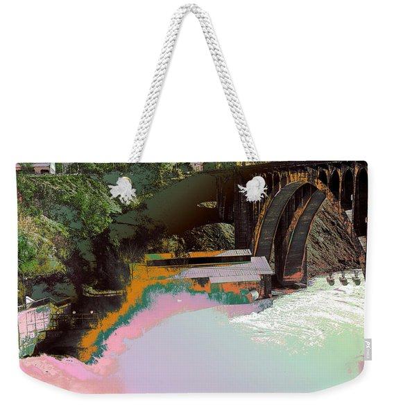 Grunge Monroe Street Plant  Weekender Tote Bag
