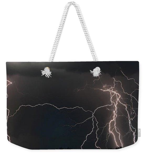Monsoon Lighting Storm Weekender Tote Bag