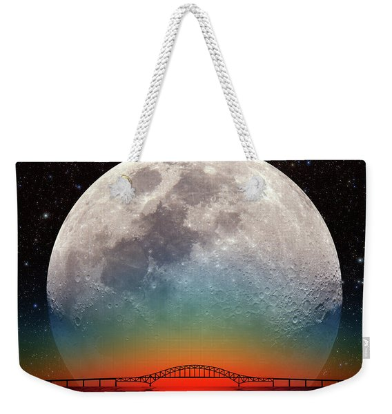 Monster Moonrise Weekender Tote Bag