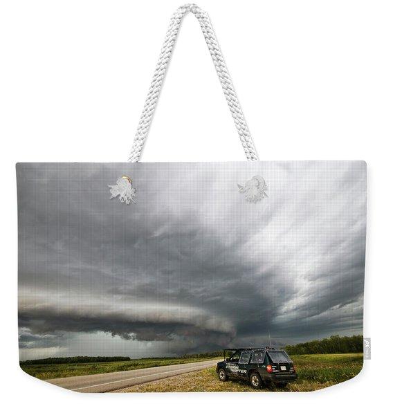 Monster Storm Near Yorkton Sk Weekender Tote Bag