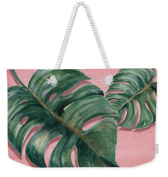 Monstera Leaf  Weekender Tote Bag