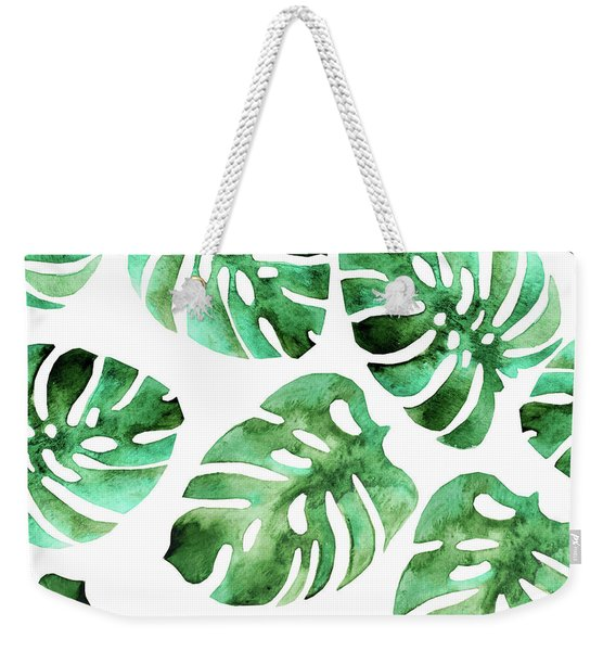 Monstera Weekender Tote Bag