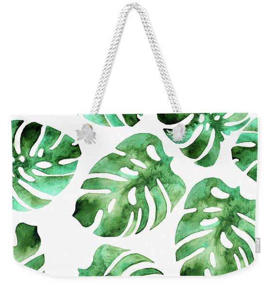 Monstera Weekender Tote Bag