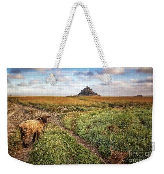 Mont Saint Michel's Sheep Weekender Tote Bag