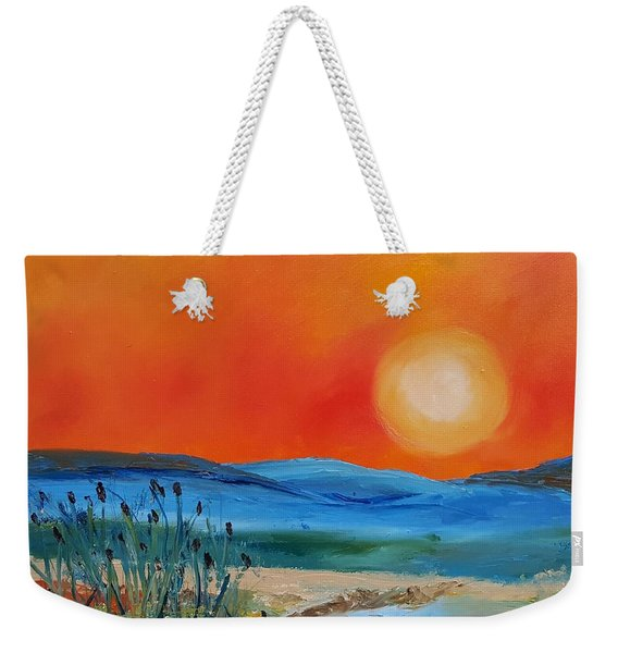 Montana Firery Sunset             49 Weekender Tote Bag