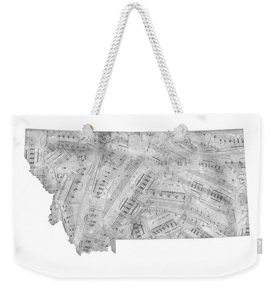 Montana Map Music Notes Weekender Tote Bag