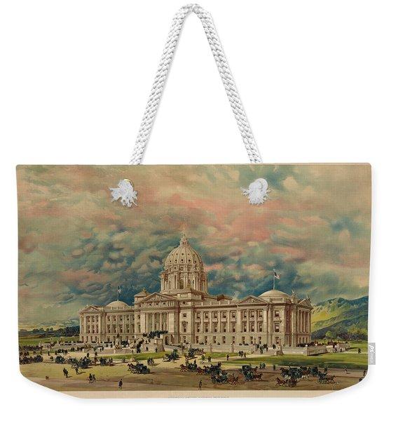 Montana State Capitol Weekender Tote Bag