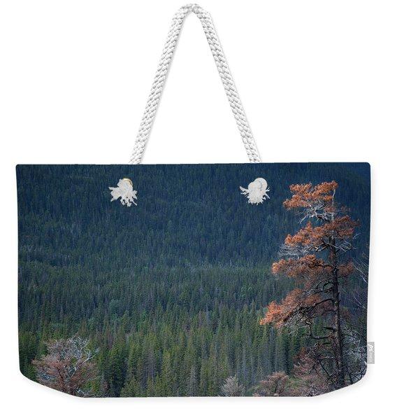 Montana Tree Line Weekender Tote Bag
