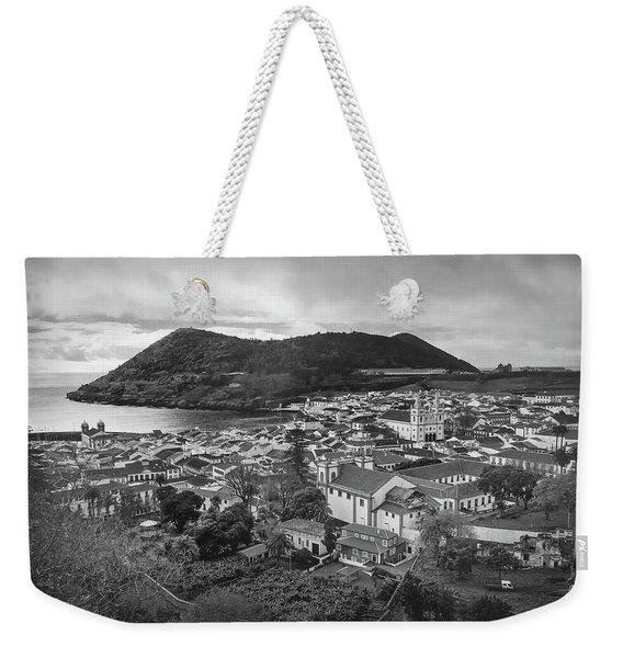 Monte Brasil And Angra Do Heroismo, Terceira Island, Azores Weekender Tote Bag