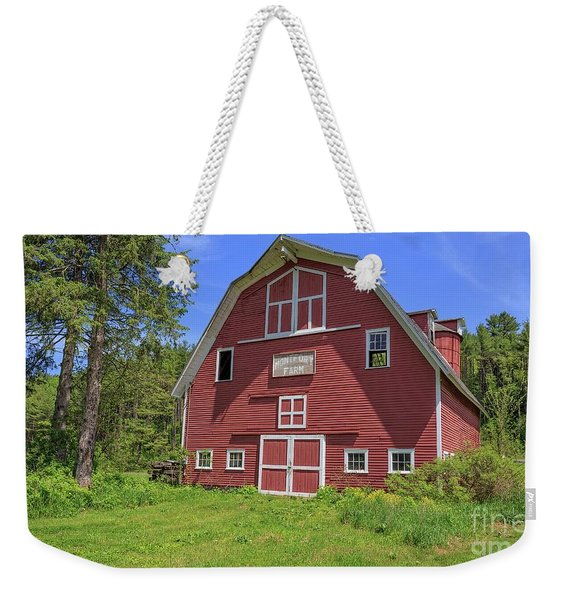 Montford Farm Red Barn Orford New Hampshire Weekender Tote Bag