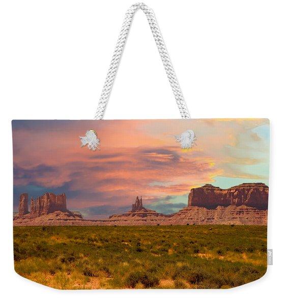 Monument Valley Landscape Vista Weekender Tote Bag