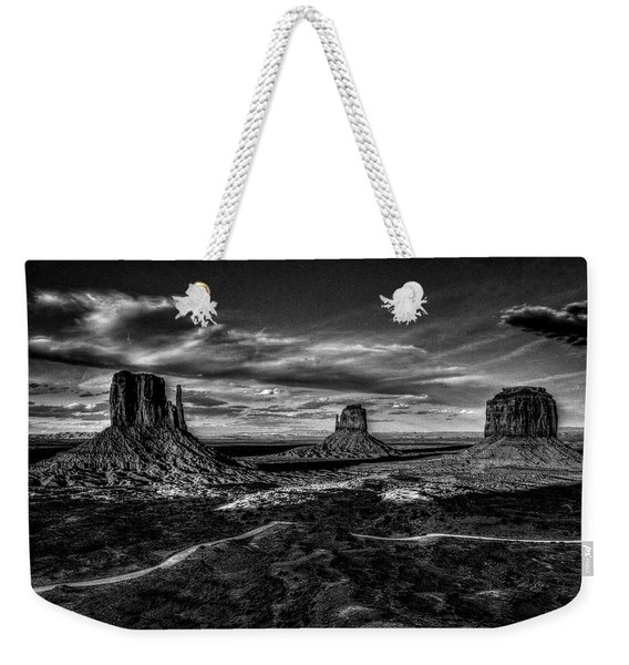 Monument Valley Views Bw Weekender Tote Bag